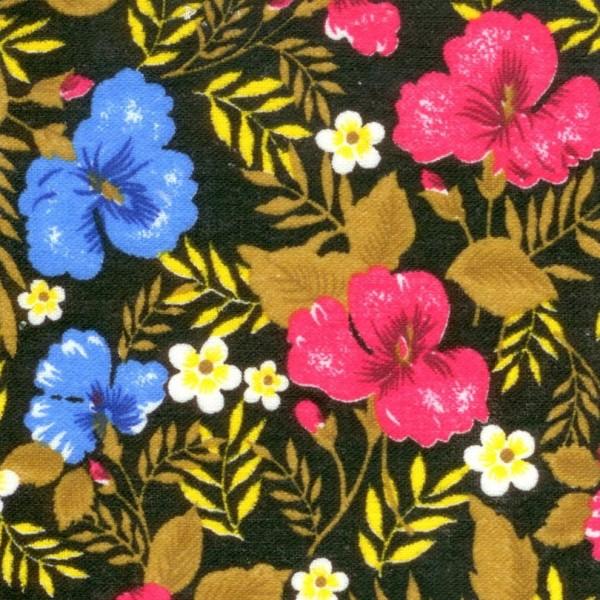 Байка 134-1п цветы (черный)