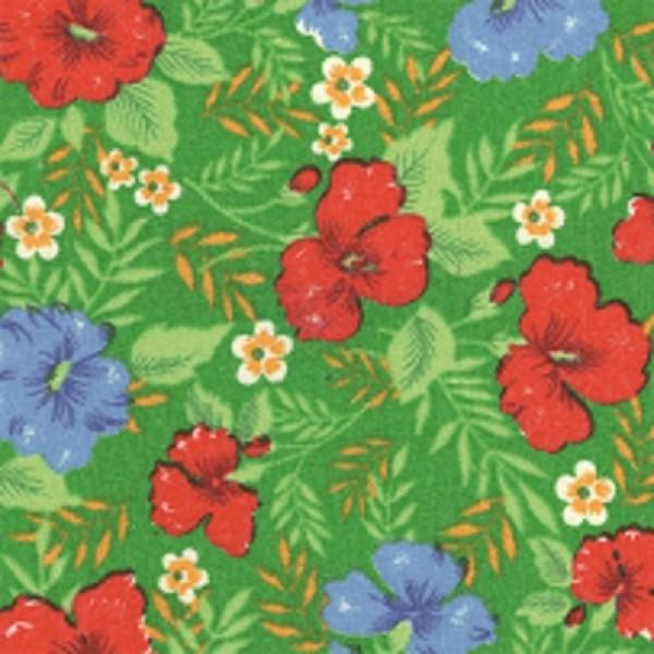 Байка 134-3п цветы (зеленый)