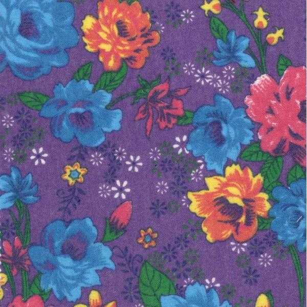 Байка 412-2п цветы (фиолетовый)