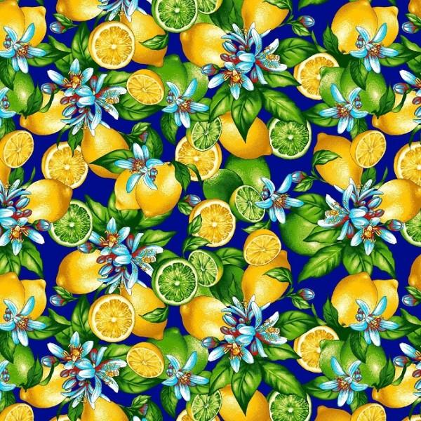 Байка 622-3п Лимоны (синий)