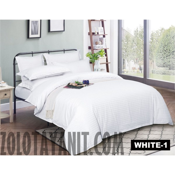 Страйп-Сатин WHITE 1 см 240 см