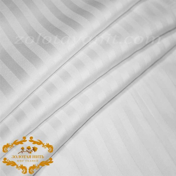 Страйп-Сатин WHITE 1 см